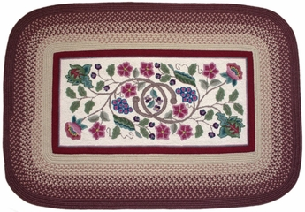 Braided Hook Collection 8'x11' Vineyard - Rhody Rug - SYIB-702811VI