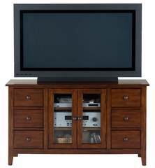 "Brentwood Oak 52"" TV Stand with 6 Drawers - 043-9"