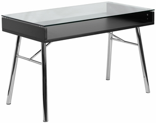 Brettford Desk with Tempered Glass Top - NAN-JN-2966-GG