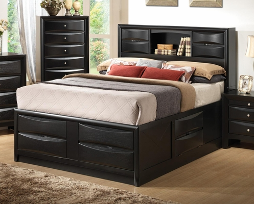 Briana Contemporary Storage Bed with Bookshelf - 202701Q