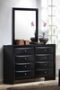 Briana Dresser with Mirror in Glossy Black - Coaster - 200703-04-SET