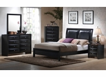 Briana Eastern King Size Bedroom Furniture Set in Glossy Black - Coaster - 200701KE-BSET
