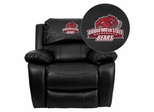Bridgewater State University Bears Black Leather Rocker Recliner - MEN-DA3439-91-BK-41009-EMB-GG