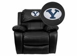 Brigham Young University Cougars Leather Rocker Recliner - MEN-DA3439-91-BK-40010-EMB-GG