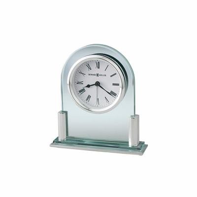 Brinell II Silver Table Clock - Howard Miller
