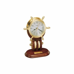 Britannia Maritime Clock in Mahogany - Howard Miller