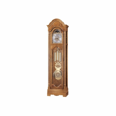 Bronson Grandfather Clock in Golden Oak - Howard Miller