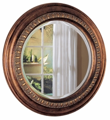 Bronze Beveled Round Wall Mirror - 900198
