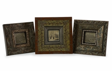 Bronzed Hues 3 x 3 Frames (Set of 3) - IMAX - 21081-3