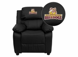 Brooklyn College Bulldogs Black Leather Kids Recliner - BT-7985-KID-BK-LEA-41010-EMB-GG