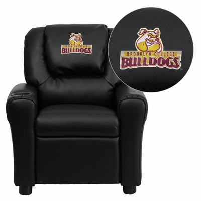Brooklyn College Bulldogs Black Vinyl Kids Recliner - DG-ULT-KID-BK-41010-EMB-GG