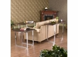 Brooklyn Espresso and Chrome Occasional Table Set - Southern Enterprises
