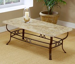 Brookside Fossil Coffee Table with Stone Top - Hillsdale Furniture - 4815OTC