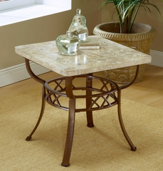 Brookside Fossil End Table with Stone Top - Hillsdale Furniture - 4815OTE