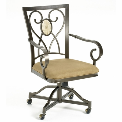 Brookside Oval Caster Chairs (Set of 2) in Brown Powder Coat - Hillsdale Furniture - 4815-804