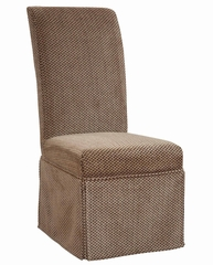 "Brown and Tan Checked Chenille Skirted ""Slip Over"" (Fits 741-440 Chair) - Powell Furniture - 741-214Z"