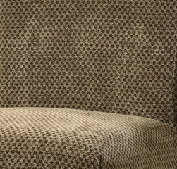 "Brown and Tan Checked Chenille ""Slip Over"" for Counter Stool or Bar Stool - Powell Furniture - 742-215Z"