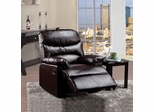 Brown Bonded Leather Recliner - Arcadia - 59015