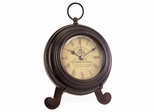Brown Iron Desk Clock - IMAX - 2513