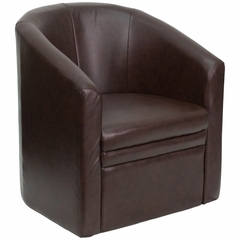 Brown Leather Reception Chair - GO-S-03-BN-FULL-GG