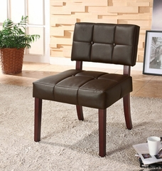 Brown PU Side Chair - Ezrela - 10087