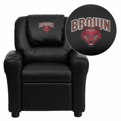 Brown University Bears Embroidered Vinyl Kids Recliner - DG-ULT-KID-BK-45003-EMB-GG