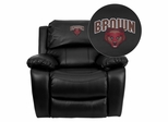 Brown University Bears Leather Rocker Recliner - MEN-DA3439-91-BK-45003-EMB-GG