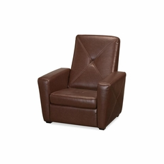 Brown Vinyl Gaming Chair and Ottoman - Home Styles - HS-5252-515