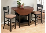 Brunette Cherry 3Pc Round Counter Height Table Set - 218-48