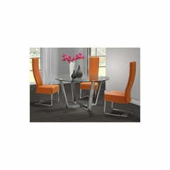 Brush Round Dining Table Set - 4pc - Zuo