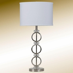 Brushed Silver Table Lamp - 901196