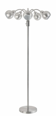 Brushed Steel Gooseneck Floor Lamp - 901440
