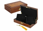 Bubinga Burl Cufflink Case with Lock - JBQ-TR212