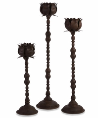 Budded Votive Holders With Stands (Set of 3) - IMAX - 56163-3