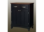 Buffet - Black Buffet with Cherry Wood Top - Home Styles - 5001-0042