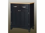 Buffet - Black Buffet with Natural Wood Top - Home Styles - 5001-0041