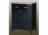 Buffet - Black Buffet with Stainless Top - Home Styles - 5001-0043