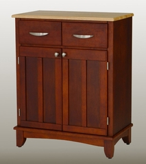 Buffet - Cherry Buffet with Natural Wood Top - Home Styles - 5001-0071