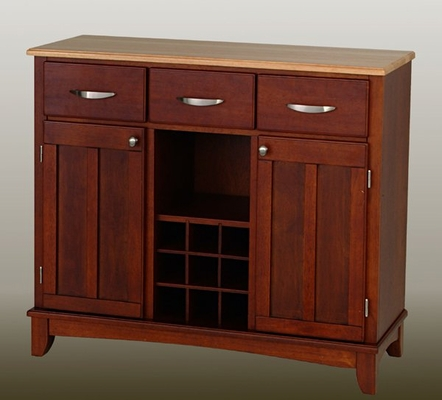 Buffet - Cherry Buffet with Natural Wood Top - Home Styles - 5100-0071