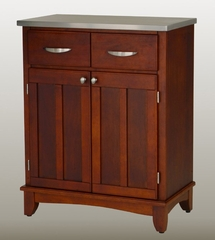 Buffet - Cherry Buffet with Stainless Top - Home Styles - 5001-0073