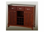 Buffet - Cherry Buffet with Stainless Top - Home Styles - 5100-73