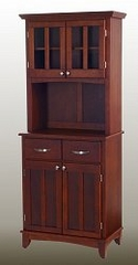 Buffet - Cherry Buffet with Two Door Hutch and Cherry Wood Top - Home Styles - 5001-0072-72