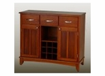 Buffet - Cottage Oak Buffet and Wood Top - Home Styles - 5100-0066