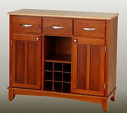 Buffet - Cottage Oak Buffet with Natural Wood Top - Home Styles - 5100-0061