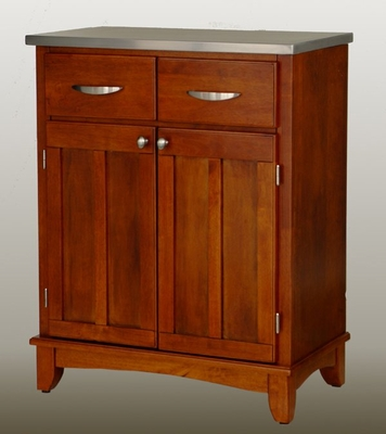 Buffet - Cottage Oak Buffet with Stainless Top - Home Styles - 5001-0063
