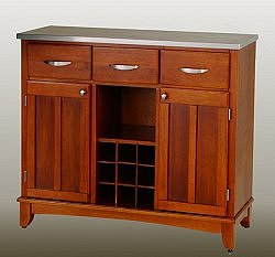 Buffet - Cottage Oak Buffet with Stainless Top - Home Styles - 5100-0063