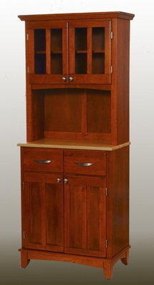 Buffet - Cottage Oak Buffet with Two Door Hutch and Natural Wood Top - Home Styles - 5001-0061-62