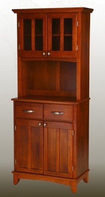 Buffet - Cottage OakBuffet with Two Door Hutch and Cottage Oak Wood Top - Home Styles - 5001-0066-62