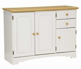 Buffet in White/Maple - Kitchen Essentials - New Visions by Lane - 394-142