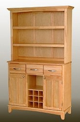 Buffet - Natural Wood Buffet with Open Hutch and Wood Top - Home Styles - 5100-0011-10